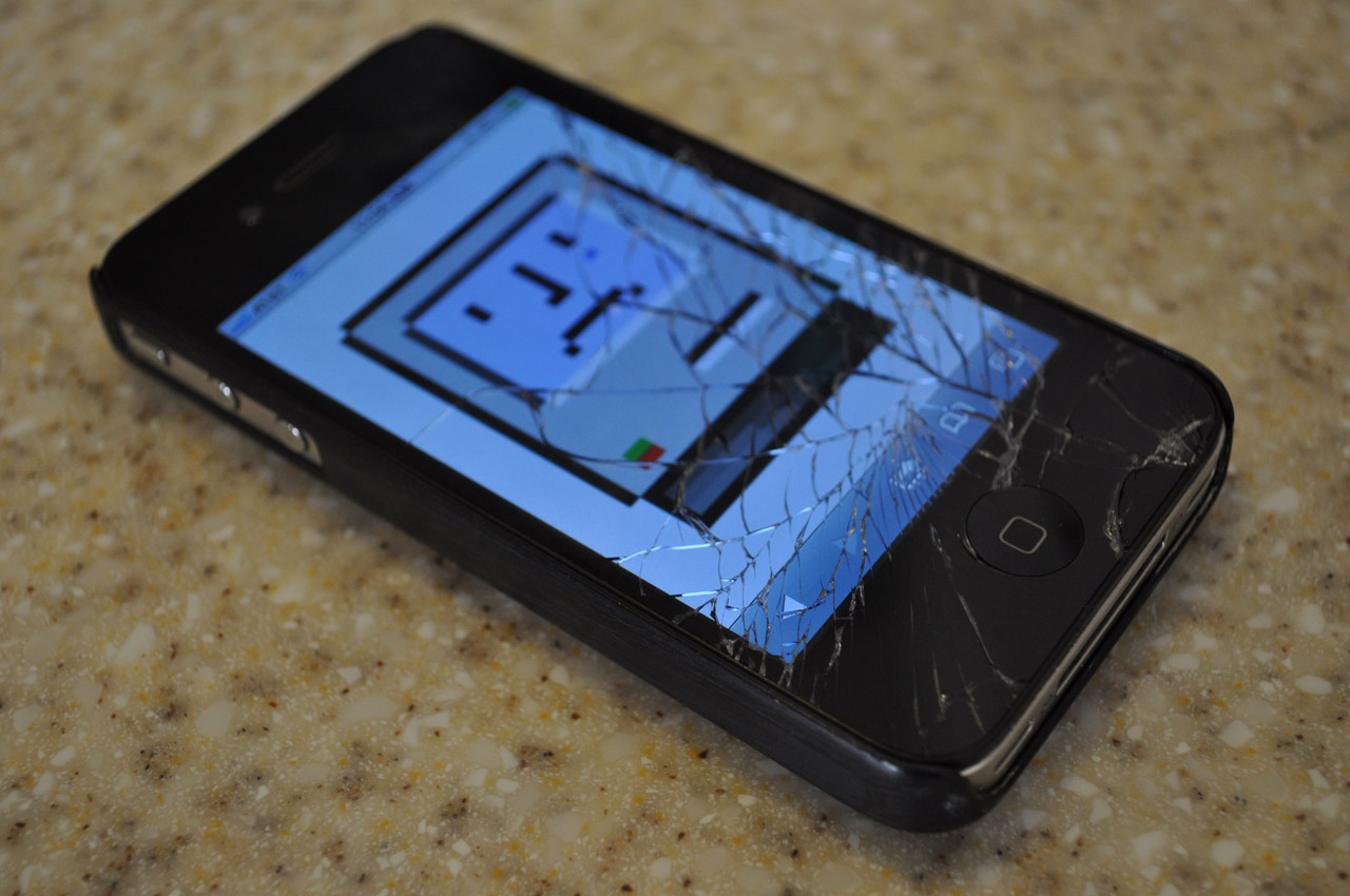 Lo smartphone rotto